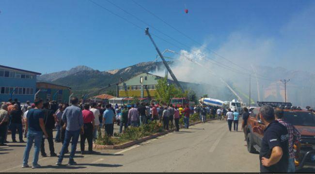 Konya'da silah fabrikasında büyük yangın