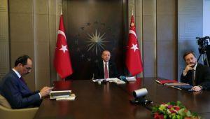 Cumhurbaşkanı Erdoğan, Cerrahpaşa'da yatan hastalarla görüştü