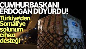 Cumhurbaşkanı Erdoğan paylaştı, Somali'ye yerli solunum cihazı