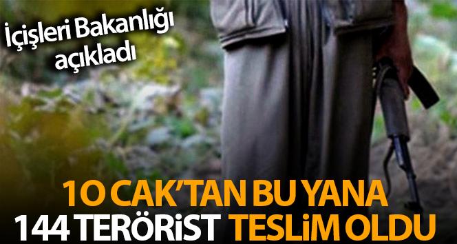 İçişleri Bakanlığı: '3 terör örgütü mensubu daha bugün Şırnak'ta güvenlik güçlerine teslim oldu'