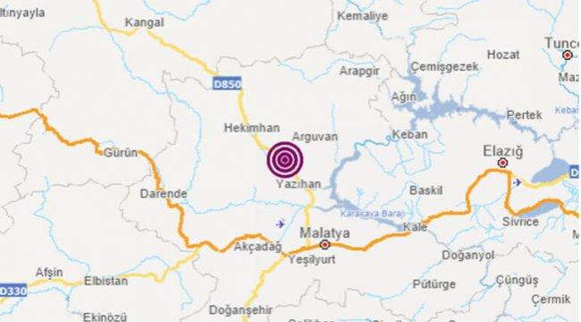 Son dakika! Malatya'da 4.5 büyüklüğünde deprem!