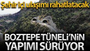 Trabzon'da Boztepe Tüneli'nin yapımı sürüyor