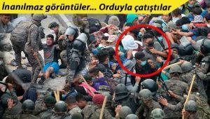 ABD'ye gitmeye çalışan binlerce göçmenle Guatemala ordusu arasında meydan savaşı