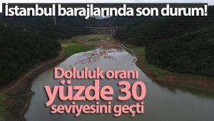 İstanbul barajlarında son durum! Doluluk oranı yüzde 30 seviyesini geçti