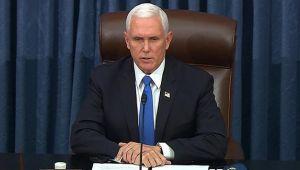 Mike Pence'den, Kongre'nin basılmasına kınama!
