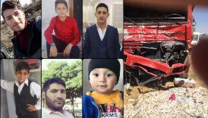 Mardin'deki feci kazada vefat edenlerin ailelerinden