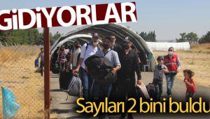 Ülkelerine bayram için giden Suriyelilerin sayısı 2 bini buldu