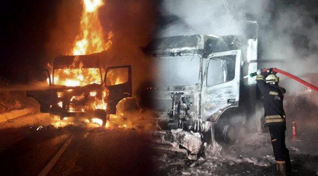 TIR, alev alev yandı! Tokat'ta korkutan anlar